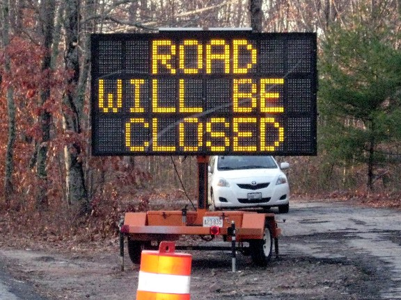 Road Will Be Closed