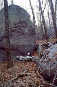 Fig. 22. Goat Rock 'A' from N. Row-Linked Glacial Erratic site, Montville, CT.