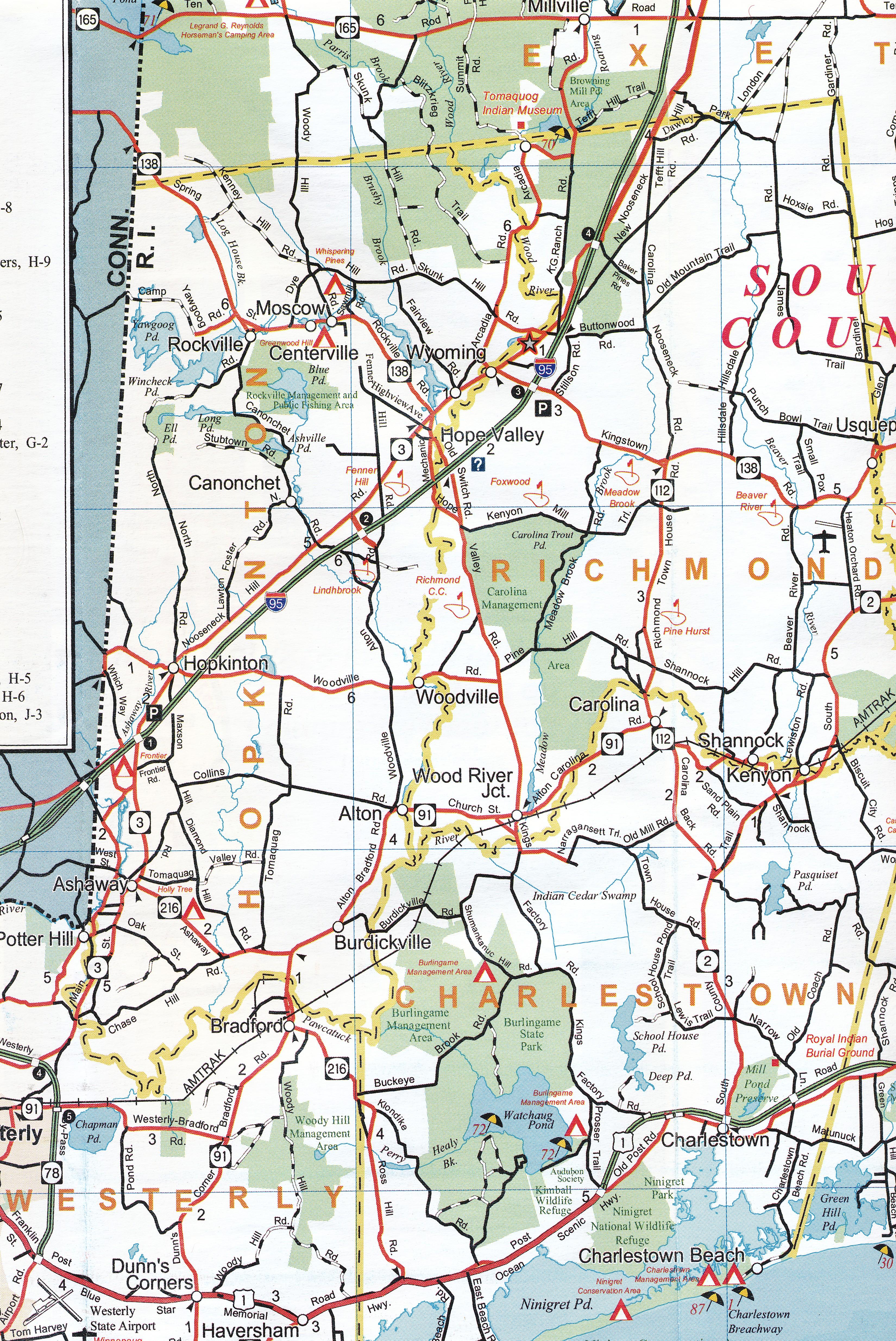 Traffic Map 95.Building Route 95 Part 1 Hopkinton Historical Association