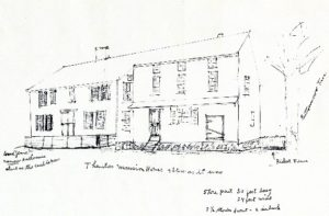 Drawing of Gen. Thurston Mansion