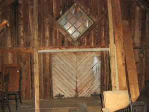 Gen. Thurston Diagonal window inside Barn