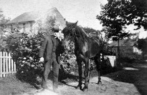 Frank Mills & Horse At The End Of Drive On Woodville Road