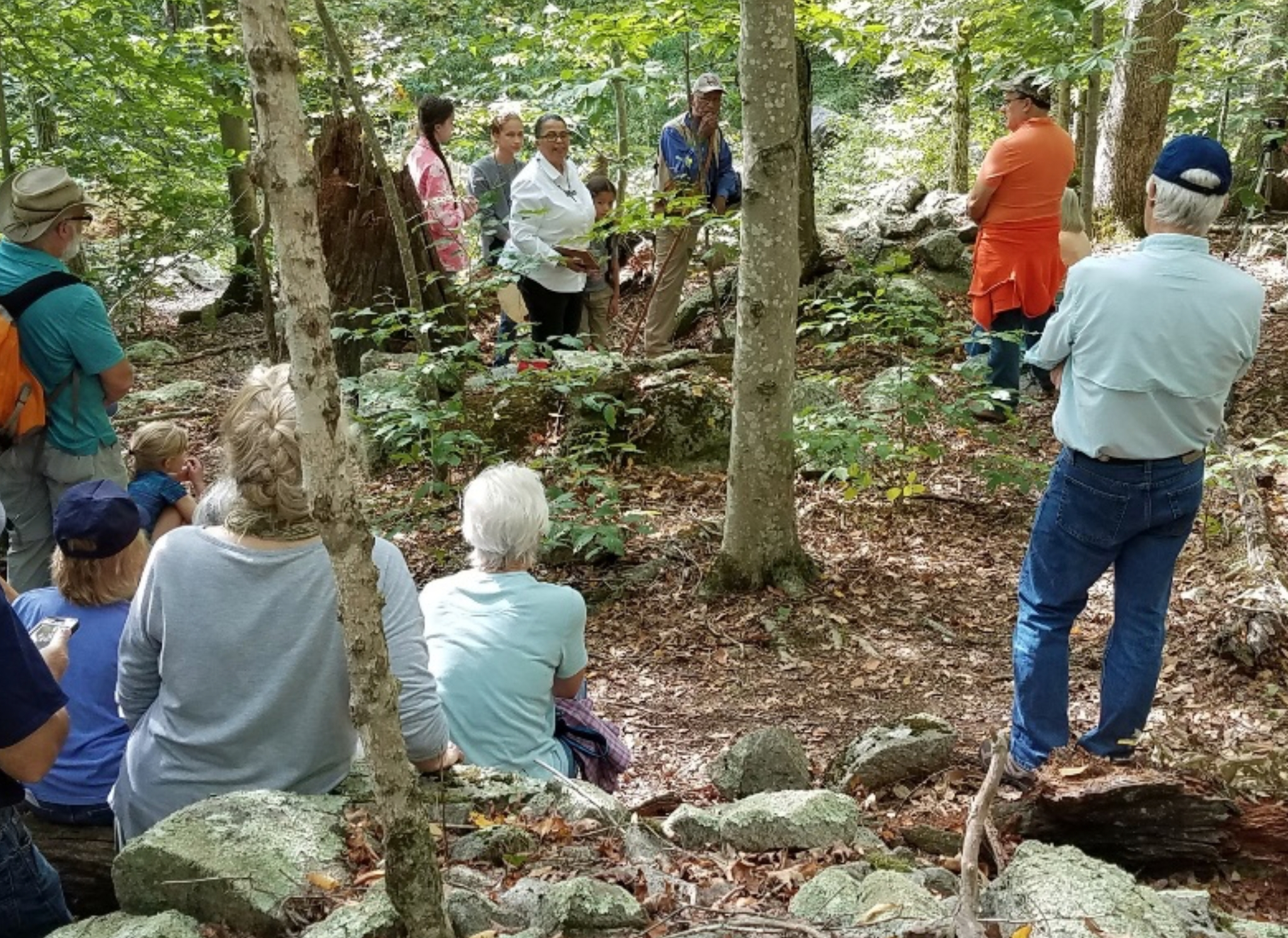 People gather for the dedication of Manitou Hassannash Preserve